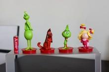 Pvc şekilli kalıp Oyuncaklar Yeşil-Canavar Gr inc h Film El Modeli Bebek Dekorasyon Oyuncak Bebek 4 adet/takım