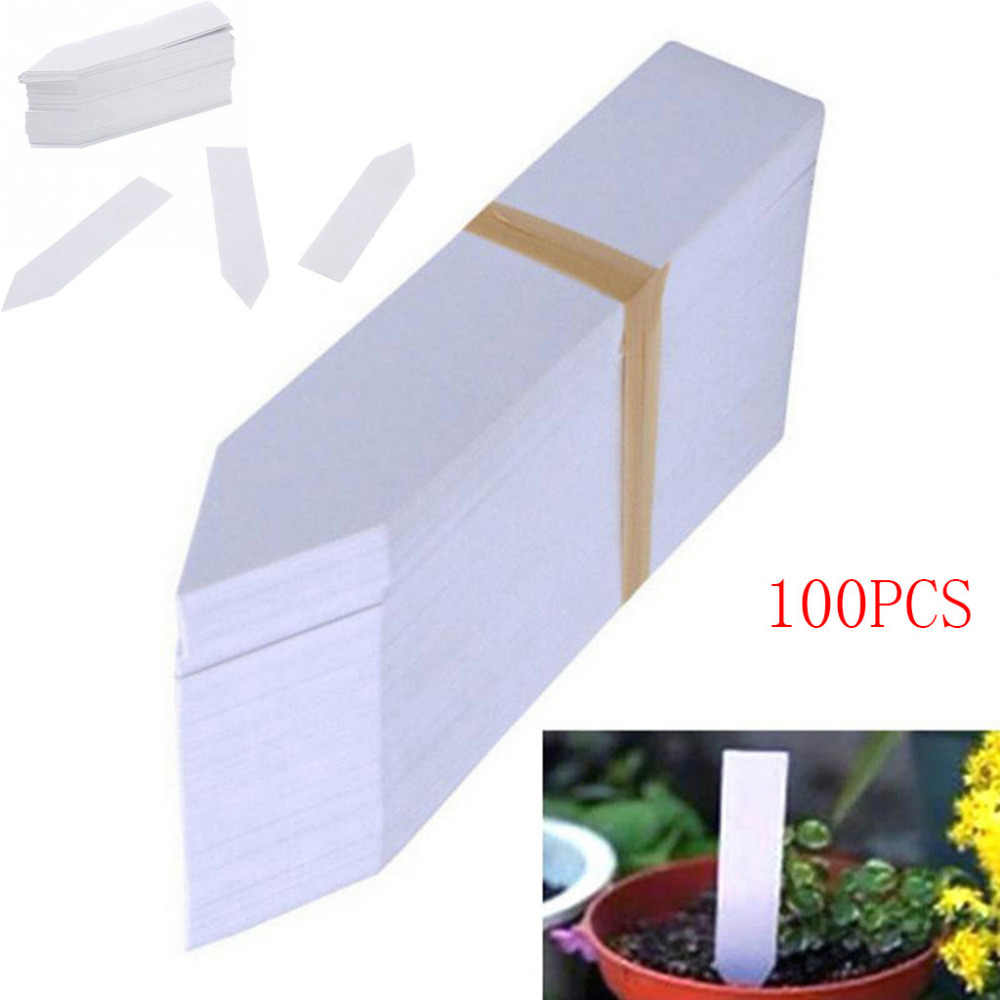 100 Pcs Plant Zaad Labels Herbruikbare Marker Waterdichte Plastic Kwekerij Stake Tags Schrijven Met Potlood Dropshipping