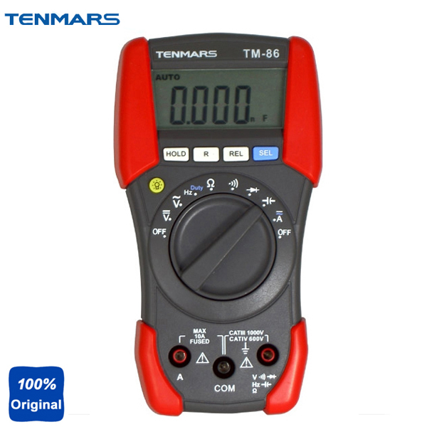 Фотография  TM-86 ACV,DCV,ACA,DCA,Resistance,Diode,Frequency,Capacitance,Duty Cycle,Continuity,Range Hold,Data Hold,REL,Digital Multimeter