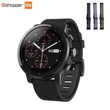 Купить онлайн Xiaomi HUAMI AMAZFIT Strato спортивные часы 2 Bluetooth gps 512 МБ/4 ГБ 11 видов спорта режимы 5ATM водонепроницаемость для iOS и Android