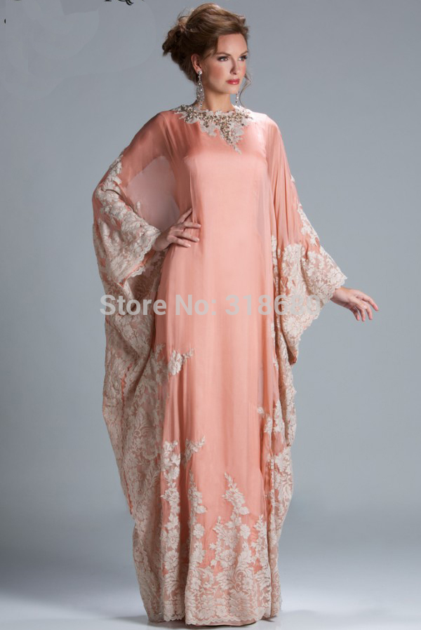 Latest Design Stunning Floor Length Appliqued chiffon Evening Dress ...