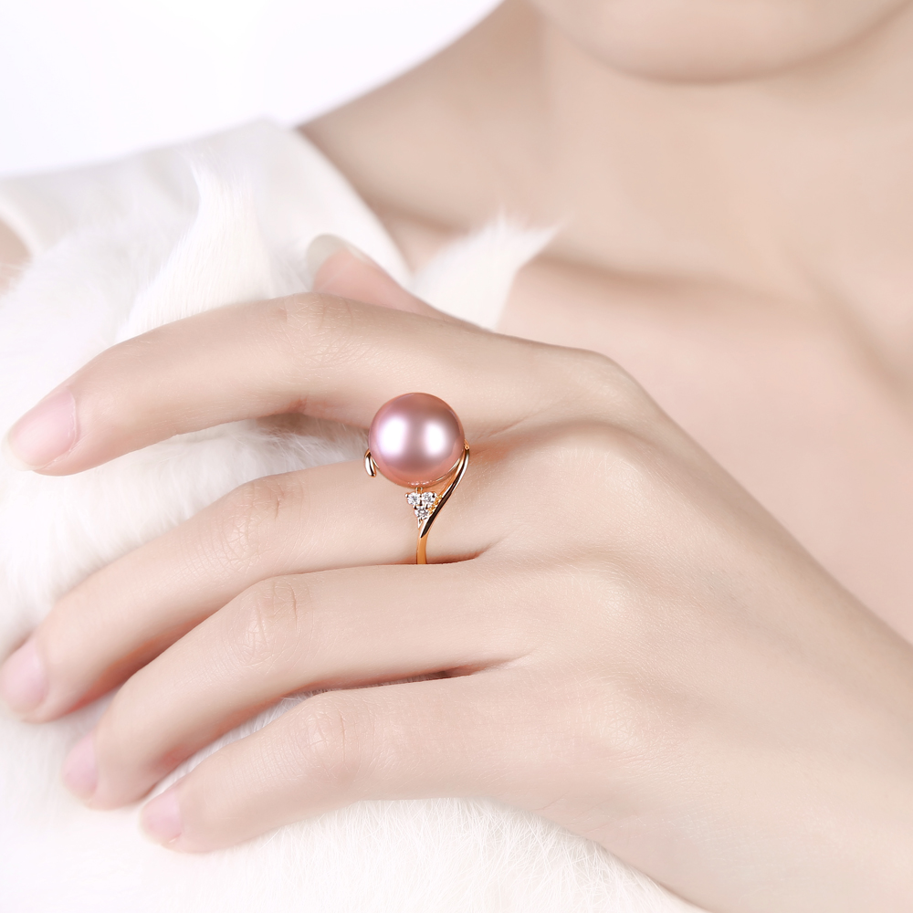 Caimao Jewelry 12 13mm Round Freshwater Pearl 0.08ct Natural ...