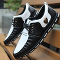 para hombre de los zapatos planos ocasionales male cool soft work and office loafers men's comfortable leisure black white shoes