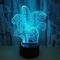 New Type Of 7 color Lily 3d Lamp Remote Control Gradual Variation Variable 3d Visual Table Lamps For Living Room|LED Table Lamps| |  -