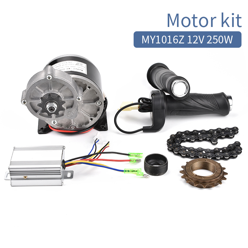 Electric Bicycle Kit 12V 250W Brushed DC Motor For DIY E-Scooter Electric Bike Conversion Kit With Throttle Controller Chain
