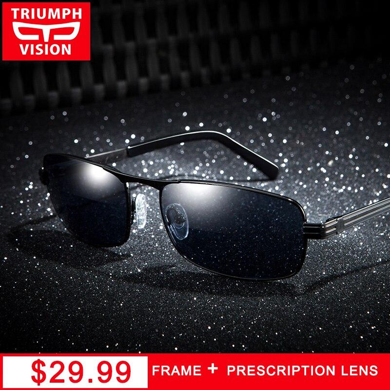 TRIONFO di VISIONE Diottrie Occhiali Da Sole per Gli Uomini Quadrati Miopia Prescrizione di Occhiali Da Sole di Guida Polarizzati Occhiali Da Vista occhiali Oculos