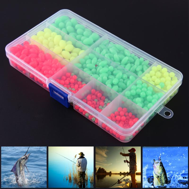 1000pcs/box Soft Fishing Bead Plastic Luminous Oval Shaped Round Beads Attractive Night fishing Deep Water Beads Fishing Lures [ 1 box ] 385pcs set combo darkness glow fishing beads soft plastic luminous bead rig making fishing tackle terminal accessories