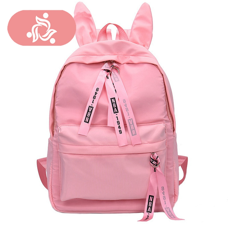 Plush Student Travel Backpack Women Girl Corduroy Polyester Panelled Zipper Soft Square Bucket Preppy Style Bucket Schoolbag For Sale Backpacks