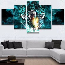 Hot Sales Without Frame 5 Panels Picture  Dragon Ball Animation Canvas Print Painting Artwork Wall Art painting Wholesale
