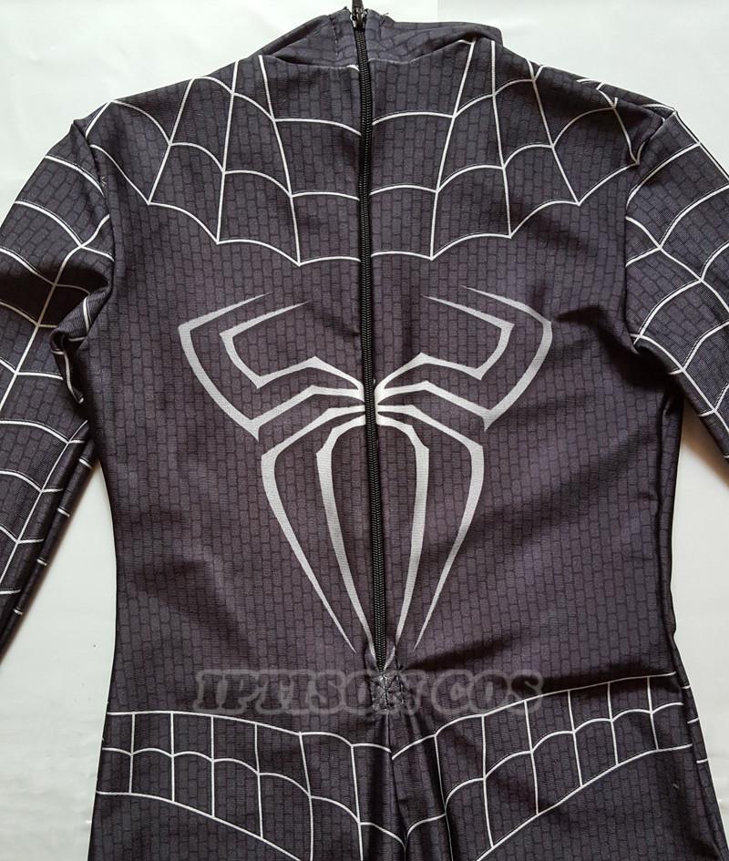 Below is the New kids Black Spiderman costume picture. & NEW Black Spiderman Boys Venom Costume Kids Superhero Cosplay Lycra ...