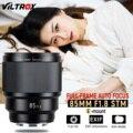 В наличии VILTROX PFU RBMH 85 мм F1.8 stm для sony AF Автофокус стандартное фиксированное фокусное расстояние объектив портретный объектив e-mount A7R3 A6500 A9 кам...