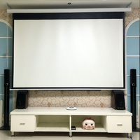 On Sale 72 16 9 HD Electric Projection Screen With Remote Controller Pantalla Proyector Motorized Projector