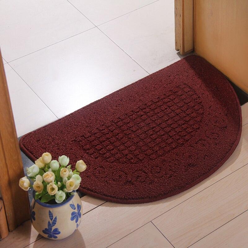 The bedroom door doormat mat doormat half round carpet mat ...