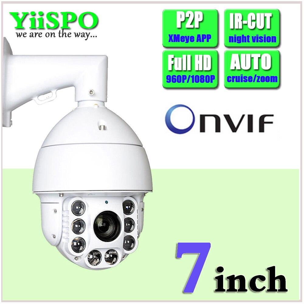 bilder für YiiSPO Cctv-kamera IP 20X Zoom Kamera High Speed Dome Netzwerk 1080 P 960 P Auto ZOOM PTZ Ip-kamera ONVIF XMeye P2P wasserdicht
