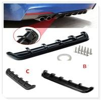 Car Rear Shark Fin Curved Bumper Lip Diffuser for Mercedes Benz W211 W203 W204 W210 W124 AMG W202 CLA W212 W220 CLK63 R F700