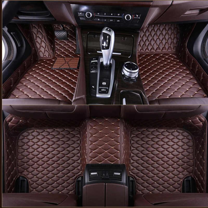 車のフロアマットプジョーすべてのモデル 3008 206 307 207 2008 408 308 508 rcz 301 4008 301 車スタイリング accessorie カスタム足パッド
