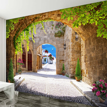 3D Mural Wallpaper European Sunny Small Town