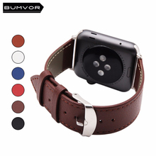 BUMVOR Genuine Leather for iwatch bracelet Apple Watch Band 42/44mm 38/40mm Sport Bracelet For Series 1&2 3 4 watch strap цены онлайн