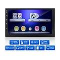 2 Din Android Carro DVD Player 1080 P HD de 7 Polegadas Tela Sensível Ao Toque Câmera de Visão noturna Retrovisor Quad Core MP3/MP4 Player WIFI GPS Receptor