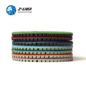"Image 4 - Z LION 7 Pieces 4"" Diamond Polishing Pads Wet Use For Black Granite Quartz Artificial Stone Diamond Sanding Disc Grinding Wheels"