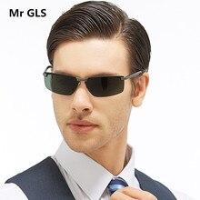 Luxury Rectangle Driving Brand Designer Men Sunglasses Polarized HD Polaroid Lens Aluminium Magnesium Frame Sunglasses UV400 F13