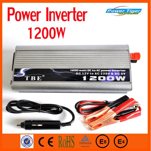 TBE 1200 W Barco Do Caminhão Do Carro de alta Qualidade Modificado sine wave USB Potência Do Inversor 12 V DC para 220 V AC Potência Do Inversor