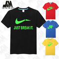 Hot sale just do it nice shirt for men brand original T-shirt Glowed fashion men's clothing  Top Tshirt Creative Design