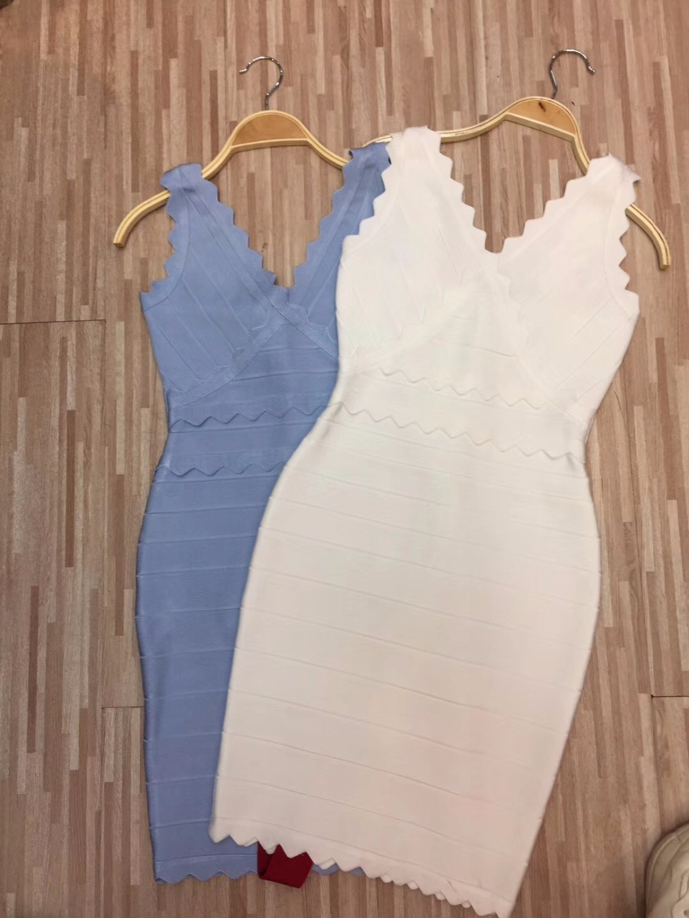 Clair blanc Partie Dames Robe Évider Rayonne Bleu Mini 2018 Blanc Sexy Pu Beige Ciel Bandage Femmes CqTtwZBq
