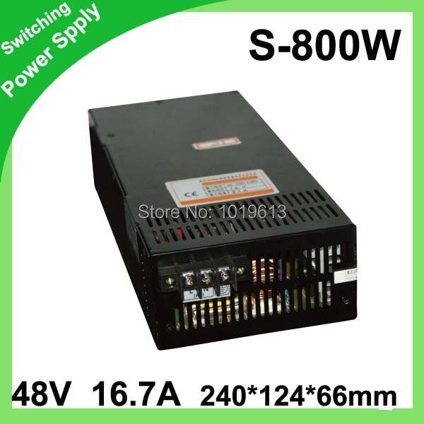 48 V 16.7A 800 W adaptateur d'alimentation à découpage led transformateur de lumière 12 v