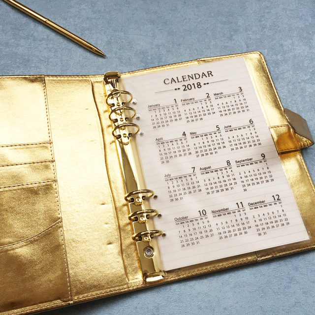 2018 frosted calendar planner divider 6 holes for a5 a6 spiral notebook filofax organizer papelaria school supplies