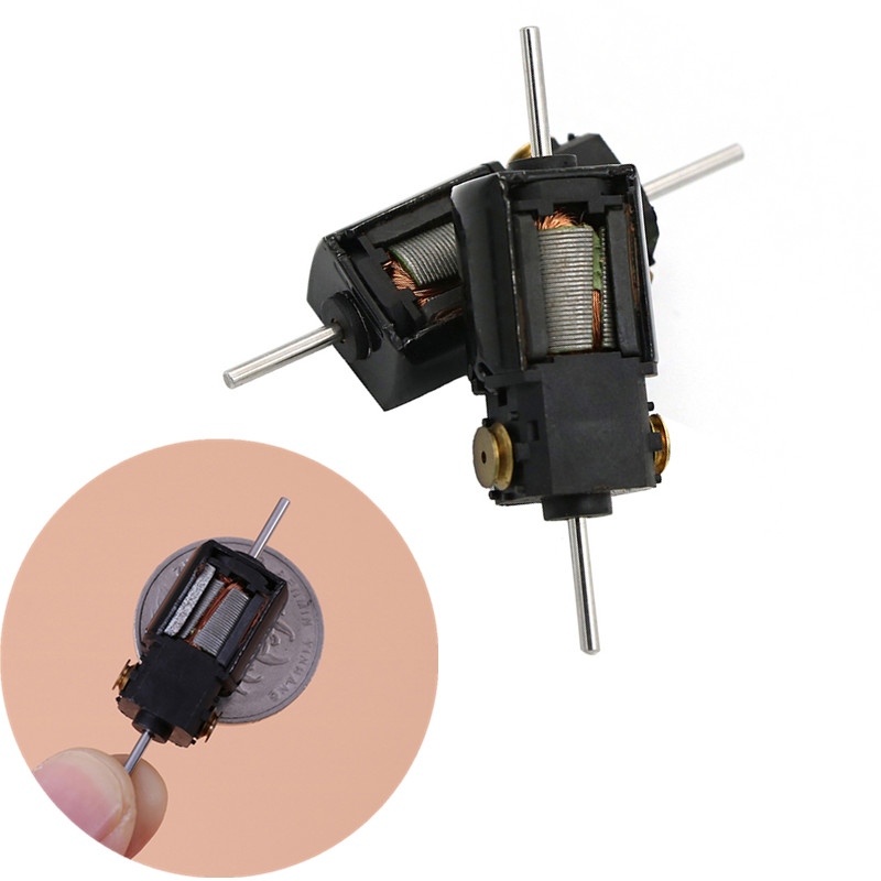 2pcs 36500rpm Dc 12v 5-pole Rotor Dc Motor High Speed Dual Shaft Carbon Brush Dependable Performance
