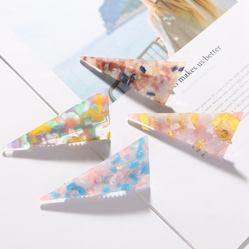 Acetate marble hairpin hair accessories triangle duck clip adult elegant lady headdress top clip fresh and versatile Accessories image