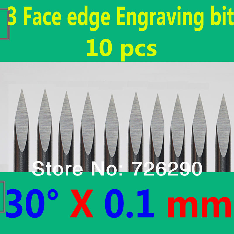 Free Shipping 10pcs 3.175mm Dia 30 Angle 0.1mm Tip 3 Edge Carbide Woodworking Tools Engraving Bits for CNC Router Machine free shipping 2pcs 6mm dia 60 angle 0 2mm tip 3 edge carbide woodworking tools engraving bits for cnc router machine