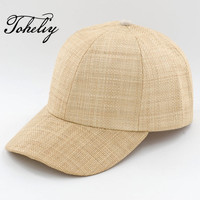 2018 New Style Spring Summer Unisex Leisure All Match Natural High Quality Raffia Straw Baseball Caps