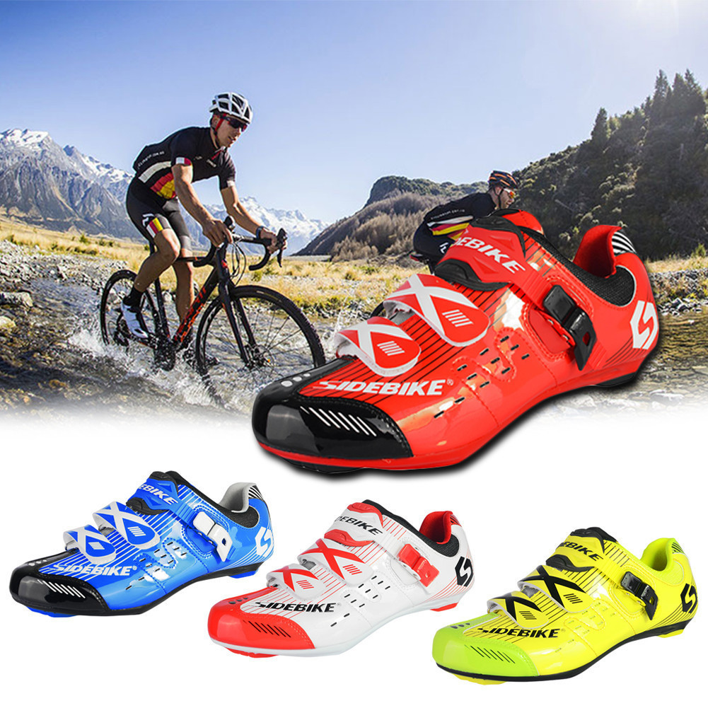 Road Bike Shoes Cycling Shoes Professional Riding Cycling Lock Shoes Breathable TPU Foot Nails Mesh Holes Cycling Equipment