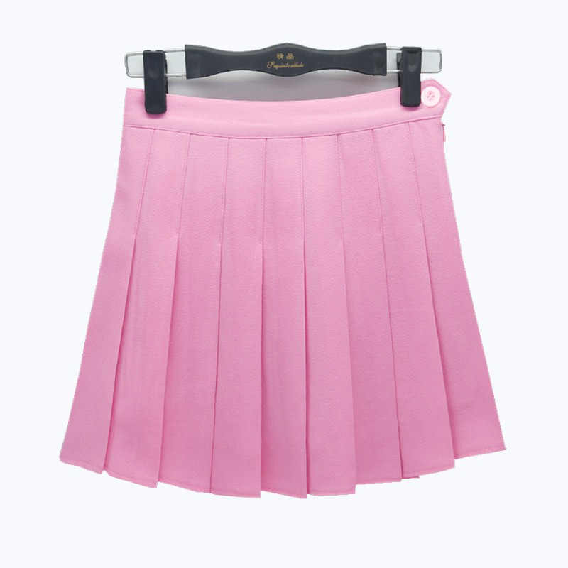 f59cbd7f0 ... Korean Students Class Uniforms clothing for Girl Summer navy pleated  skirt Japanese School Solid Pleated Short ...