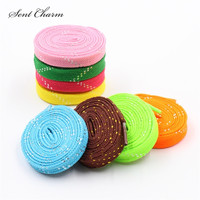 SENTCHARM 110cm 43 Silver Shoe Laces Metallic Flat Rope Outdoor Climbing Casual Trainer Lace