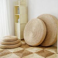 Высота 20 см диаметр 70 см натуральный соломы круглый Pouf татами подушки пол S медитации Йога круглый коврики Zafu подушка для кресла