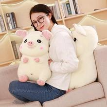 WYZHY down cotton cute pig pillow plush toy sofa decoration to send friends and children gifts 50CM