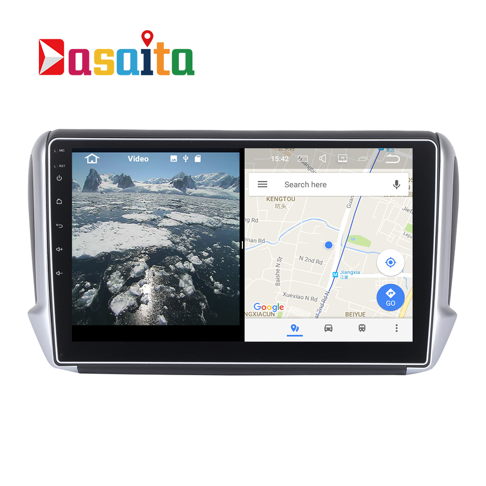 buy 2 din gps navi autoradio for peugeot 2008 208 headunit stereo broswer head. Black Bedroom Furniture Sets. Home Design Ideas