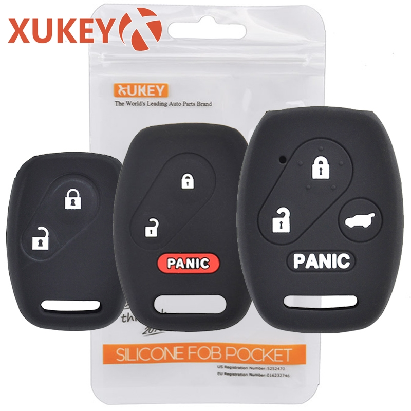 3 1 Button Silicone Car Key Cover Case For Honda Accord Civic CR-V CR-Z Pilot