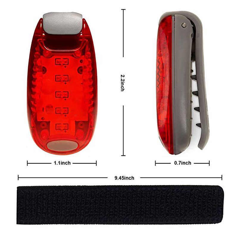 3 мигающих режима эластичный волшебный Зажим для ремня аварийный свет CR2032 батарея Водонепроницаемая аварийная лампа наружная палатка предупреждающая лампа