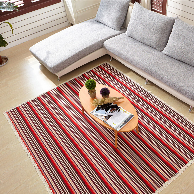Cotton Machine Made Japan Style Floor Mats Rugs For Living RoomChina Mainland