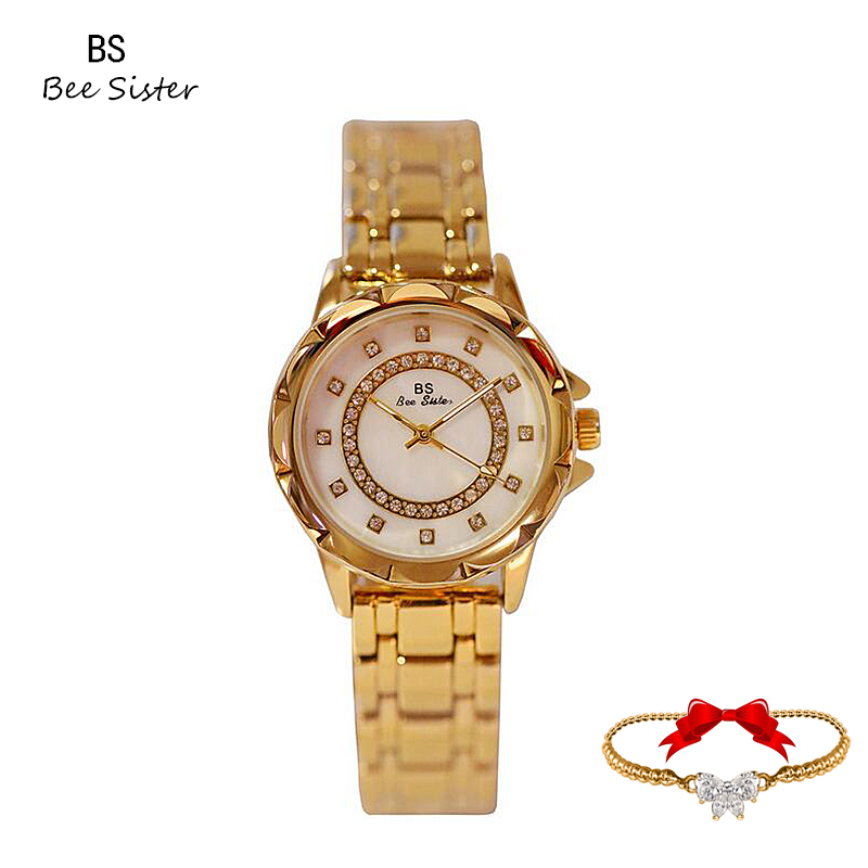 Women Watches Fashion Casual Luxury Rhinestone Quarts Tailor-made Rose Gold Silver Watch Birthday Valentine's Day Gift