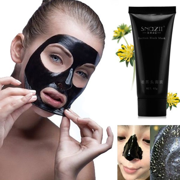 Всасывания черные маски глубокий очищающий очистки удалить нос по уходу за кожей маски всасывания отбеливающая крем грязи головы Pilaten