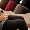 Tricô Inverno Leggings para Mulheres Skinny Linda Calcinha Leggings Quentes Calças Femininas Das Mulheres Calças Legging de Alta Elasticidade