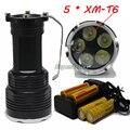 7000 люмен 5 * XM-T6 LED Фонарик Прожектор угольной шахте переносная лампа прожектора 18650 кемпинг рыбалка огни + 4 * зарядное устройство