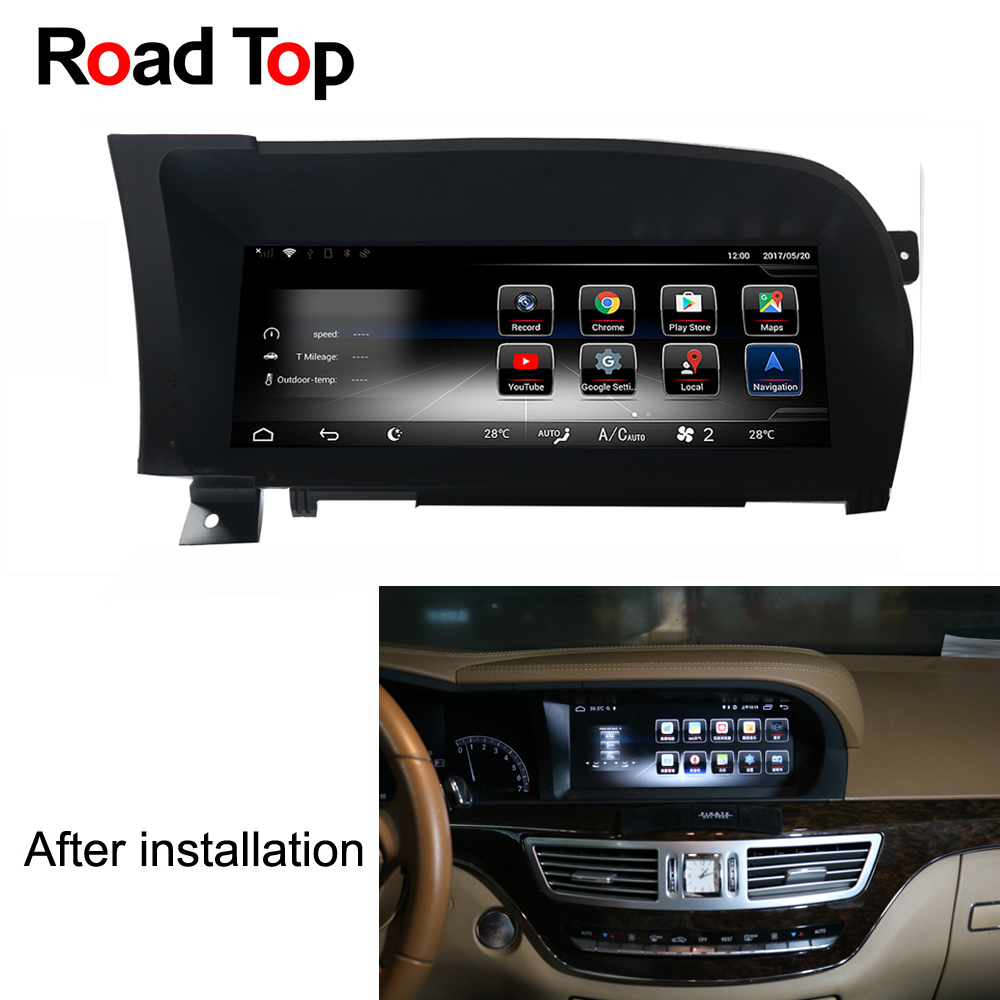 10.25 Android 7.1 Octa 8 Core CPU 2+32G Car Radio GPS Navigation Bluetooth WiFi Head Unit Screen for Mercedes Benz S Class W221