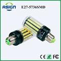 Alta Lumens 5736 SMD E27 3.5 W 5 W 7 W 8 W 12 W 15 W Lâmpada LED de Milho luz 85 V-265 V Corrente Constante 28-156 Diodos Emissores de Luz da lâmpada No Flicker