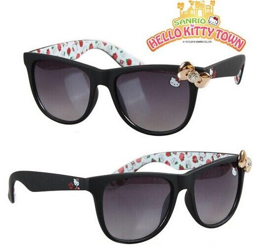 a475f5b116 NEW cute cat hellokitty kids sunglasses girls women matte black frame  children sun glasses girl hello kitty glasses gafas de sol